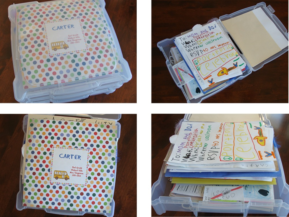 -They ... & Saving and Storing School Papers | Organized Housewife LLC